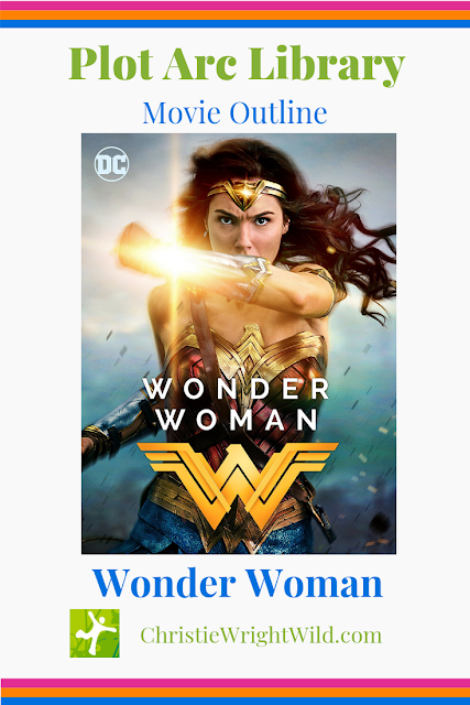 Plot Arc Library: Wonder Woman, Amazon Princess || what is the plot arc or story structure of the new Wonder Woman movie? || christiewrightwild.com