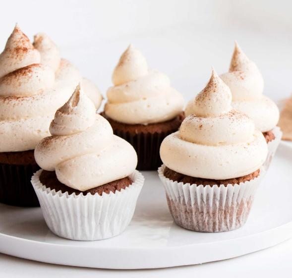 VANILLA CHAI CUPCAKES #dessert #healthycake