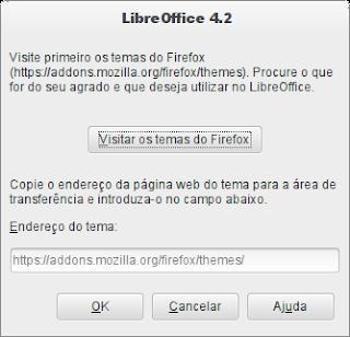 Temas do LIbreOffice mude