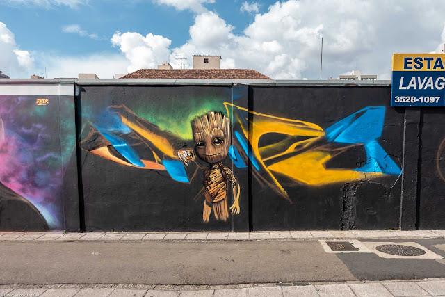 Mais um grafite na Lourenço Pinto