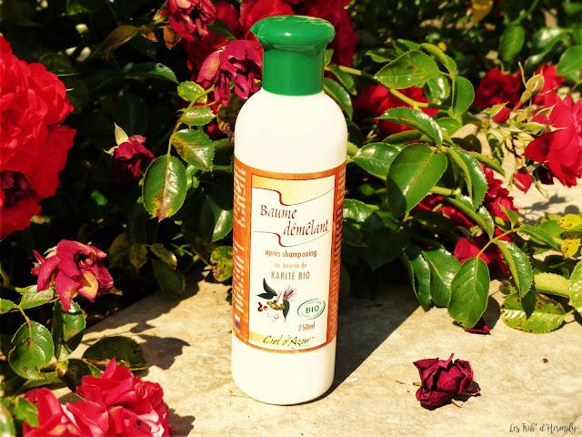 Routine capillaire bio lavera ciel azur couleur éclat éclat couleur beurre de karité baume démêlant après-shampooing shampooig masque cheveux Naturé Moi