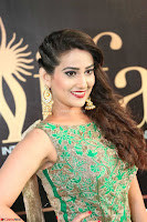 Manjusha in Beautiful Sleeveless Green Anarkali dress at IIFA Utsavam Awards 96.JPG