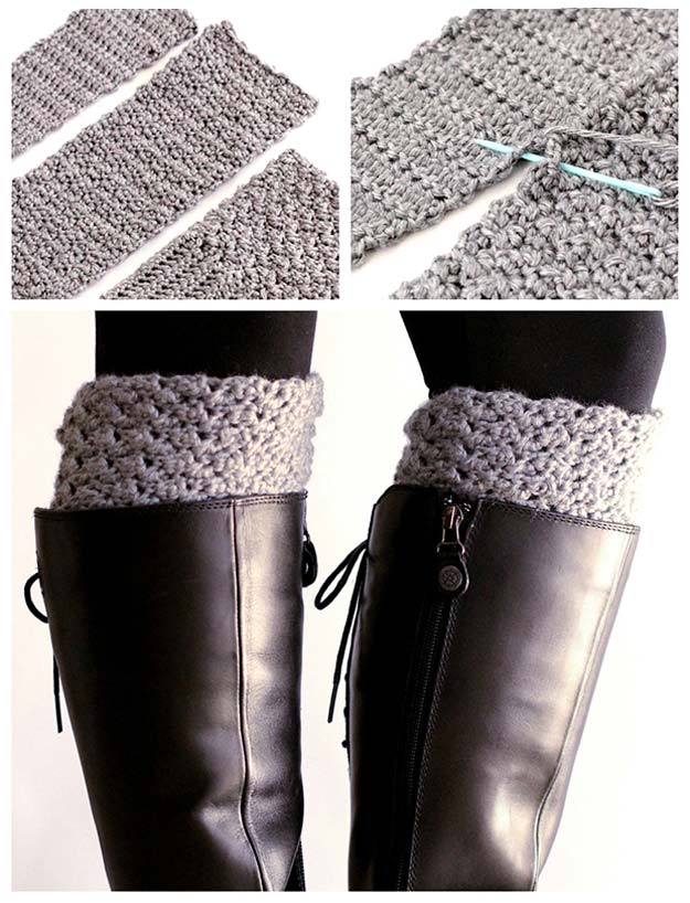 Easy Crochet Projects With Free Step By Step Tutorials - crochet, crochet tutorials, crochet projects, easy diy projects, crochet for beginners, boot cuffs