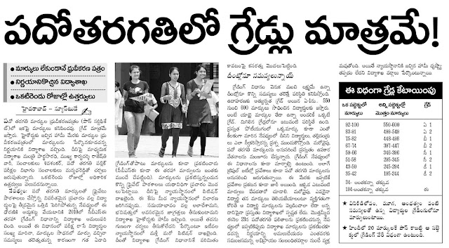 AP SSC NO MARKS IN CERTIFICATES ONLY GRADS RESULTS 2012 ON