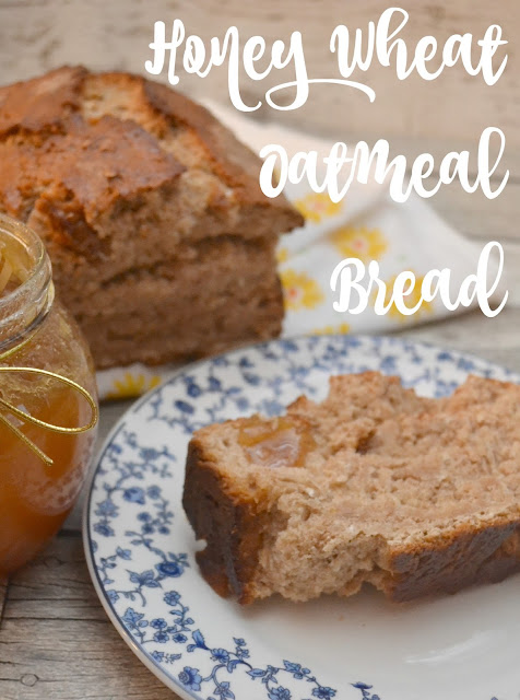 Honey Wheat Oatmeal Bread in a Jar, Honey Wheat Oatmeal Bread, bread recipes, honey wheat bread recipe, oatmeal bread recipe, bread in a jar, easy bread recipes, recipes using honey, honey as a cough suppressant, honeycomb recipes, DIY wellness basket, wellness basket, new years hostess gift, honey recipes