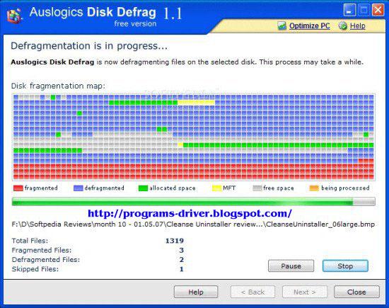 Auslogics Disk Defrag 3.3.0.2 Portable ~ Portable