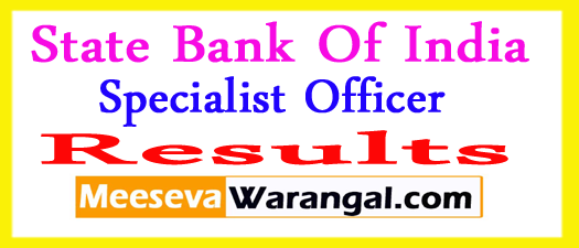 State Bank of India Specialist Officers Final Results 2017
