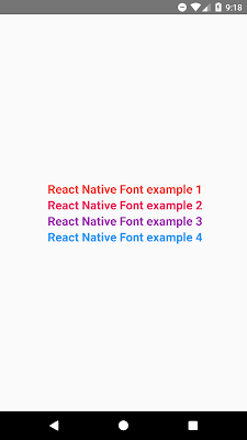 Set Text Color in React Native