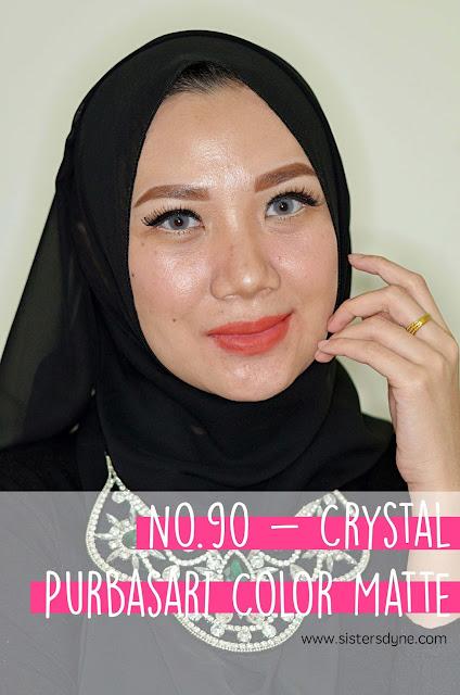 purbasari lipstick color matte 90 srystal