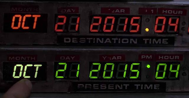 Indicatore della DeLorean fisso sul 21 ottobre 2015