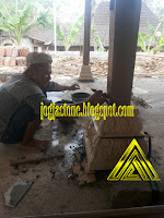 Umpak batu alam untuk tiang rumah limasan / jawa, gazebo dan joglo
