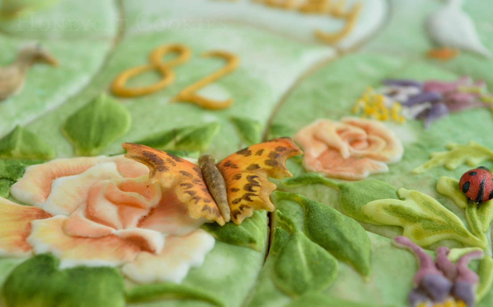 Garden Cookiesaw Cookie Jigsaw Puzzle Butterfly Rose