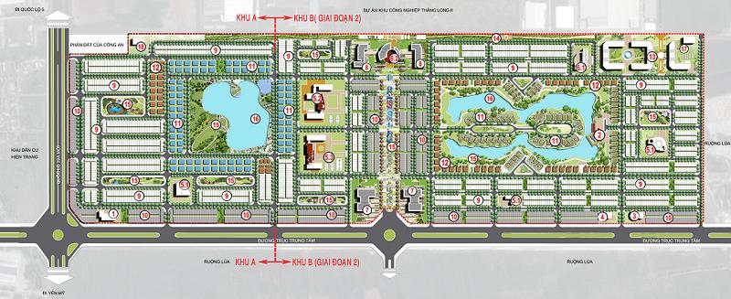Mặt bằng dự án V-Green City
