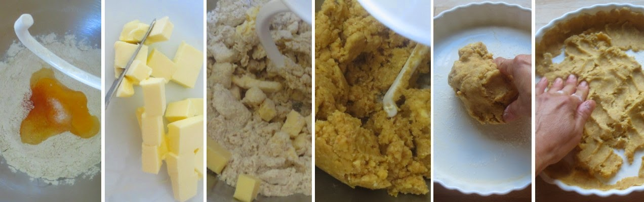 Zubereitung Mürbeteig - Zucchini-Feta-Quiche