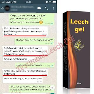 Obat Pembesar penis Leech Gel memperbesar ukuran Alat vital solusi EDI dan DE