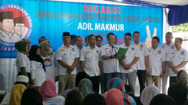 Jaringan Relawan Dideklarasikan, Tim Prabowo: Tanda Kemenangan Dekat