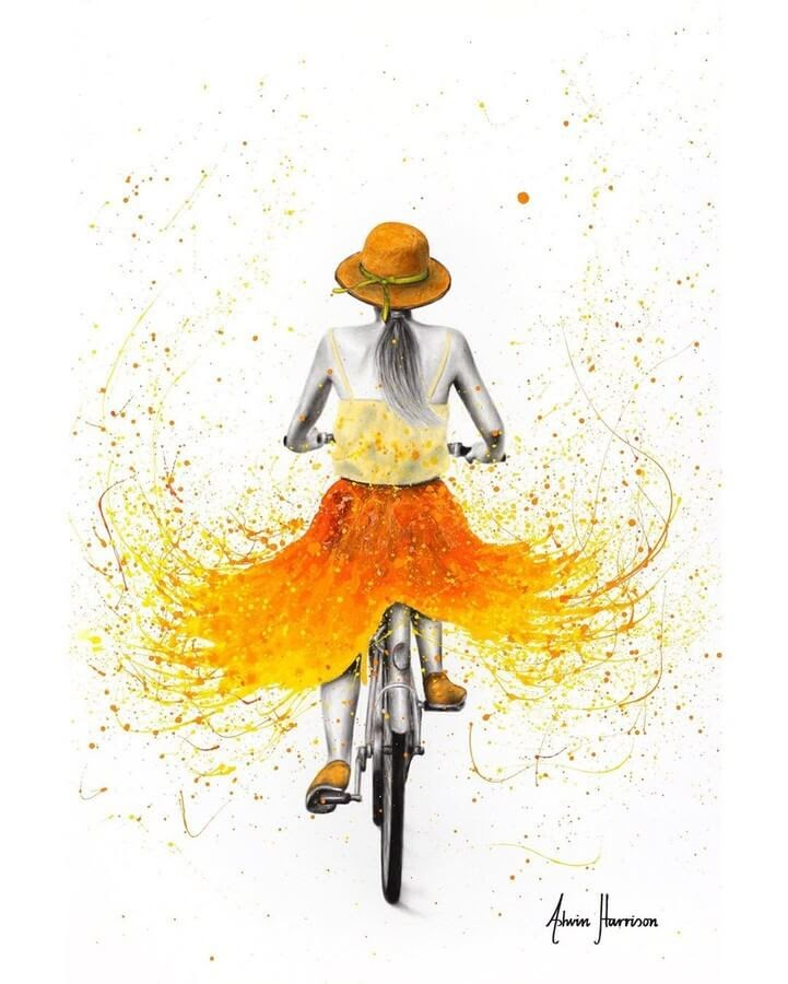 10-Orange-and-Yellow-Cycling-Ashvin-Harrison-Acrylic-Paintings-www-designstack-co