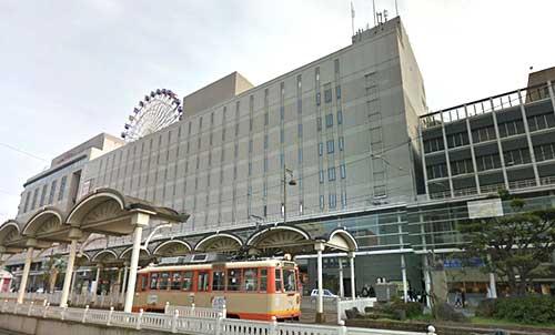 Matsuyama-shi Station in Matsuyama city, Shikoku Island.
