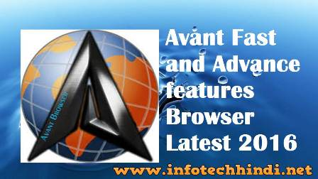 Avant Browser Latest 2016