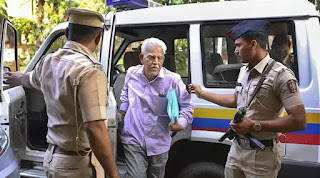 Activist/writer and poet P Varavara Rao. (PTI Photo/File)  Police have arrested lawyer Surendra Gadling and activist P Varavara Rao in connection with