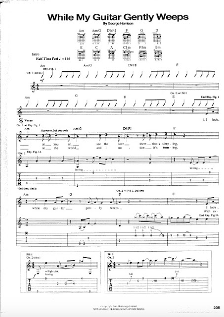 The Beatles - While My Guitar Gently Weeps partitura