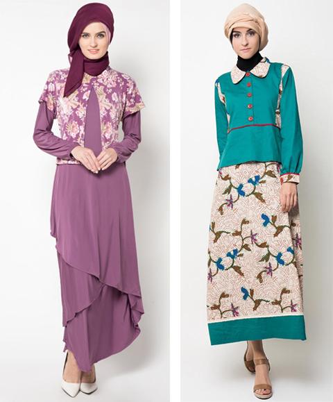 model baju jubah kombinasi