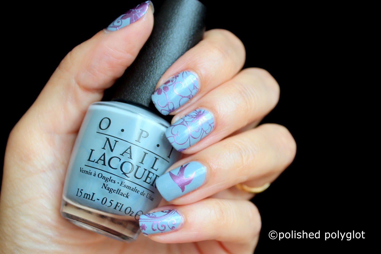 Nail Art Birds And Flowers Over Opi Check Out The Old Geysirs