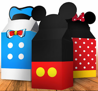 Donadl, Pluto, Minnie and Mickey Free Printable Boxes.