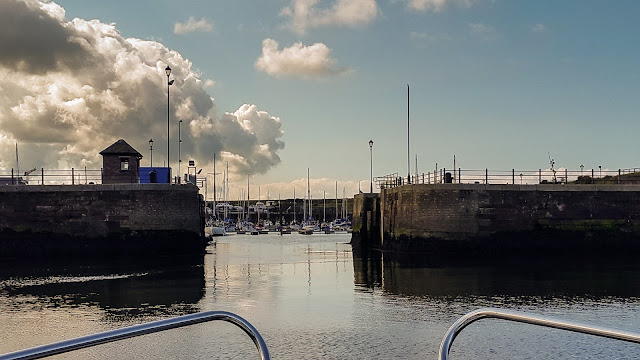 Photo of heading back towards the gate to Maryport Marina