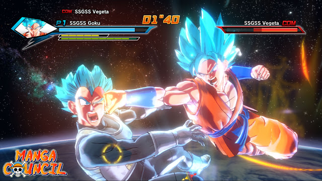 SSGSS Goku vs. SSGSS Vegeta