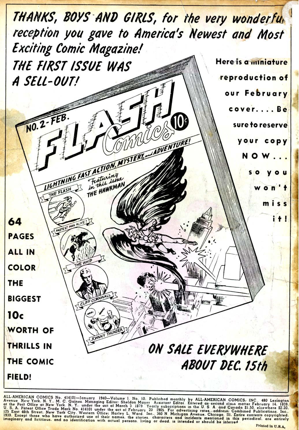 Read online All-American Comics (1939) comic -  Issue #10 - 2