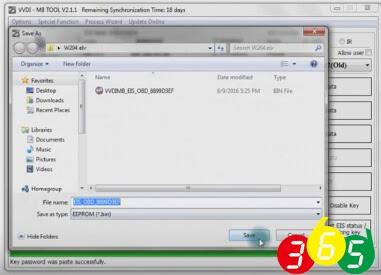 save HC05 format file