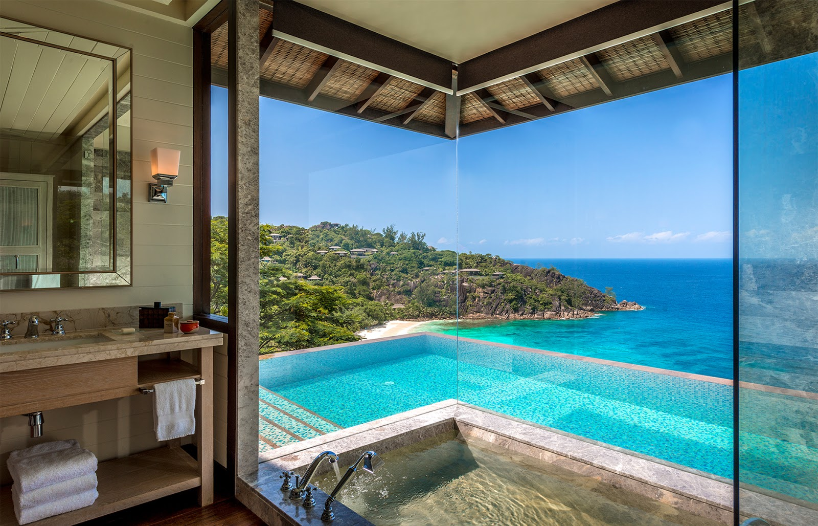 passion for luxury four seasons resort seychelles. Black Bedroom Furniture Sets. Home Design Ideas