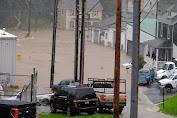 Flash Floods struck Maryland, Main Street So Like River