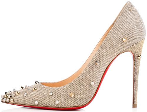 zapatos tacón tachas Christian Louboutin primavera verano 2017