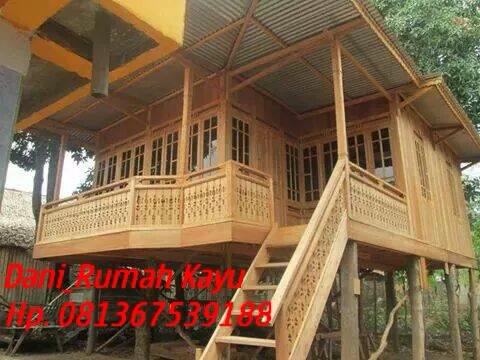 rumah kayu bongkar pasang: rumah kayu type 48m²