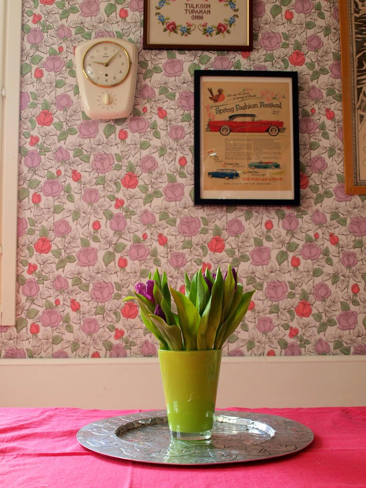 vintage fifities kitchen pihlgren ritola tapettitalo Kihlaruusu