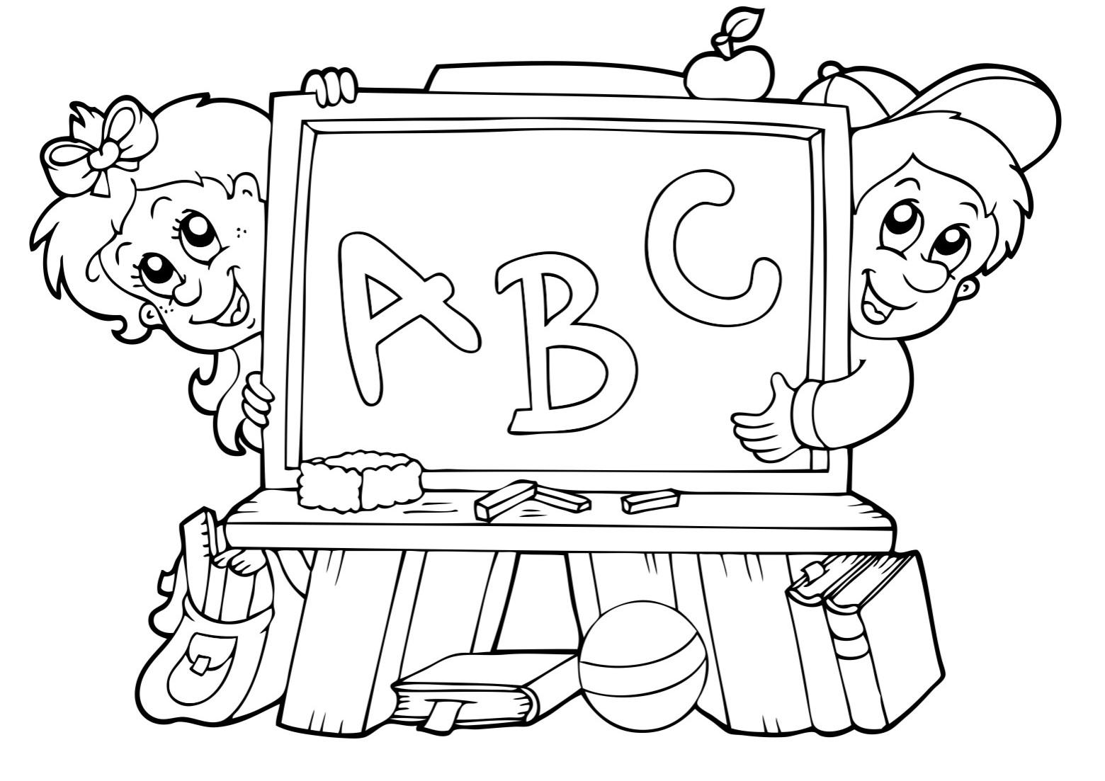 Dibujos Ideia Criativa: Desenho de Volta às aulas para colorir