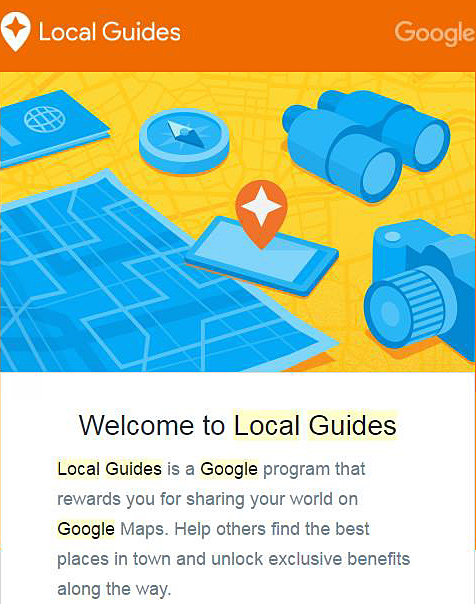 Welcome to Google Local Guides