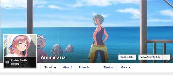 Dampak dan efek anime - ganti foto profil