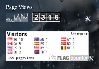 Blogger vs Falg Counter pageview