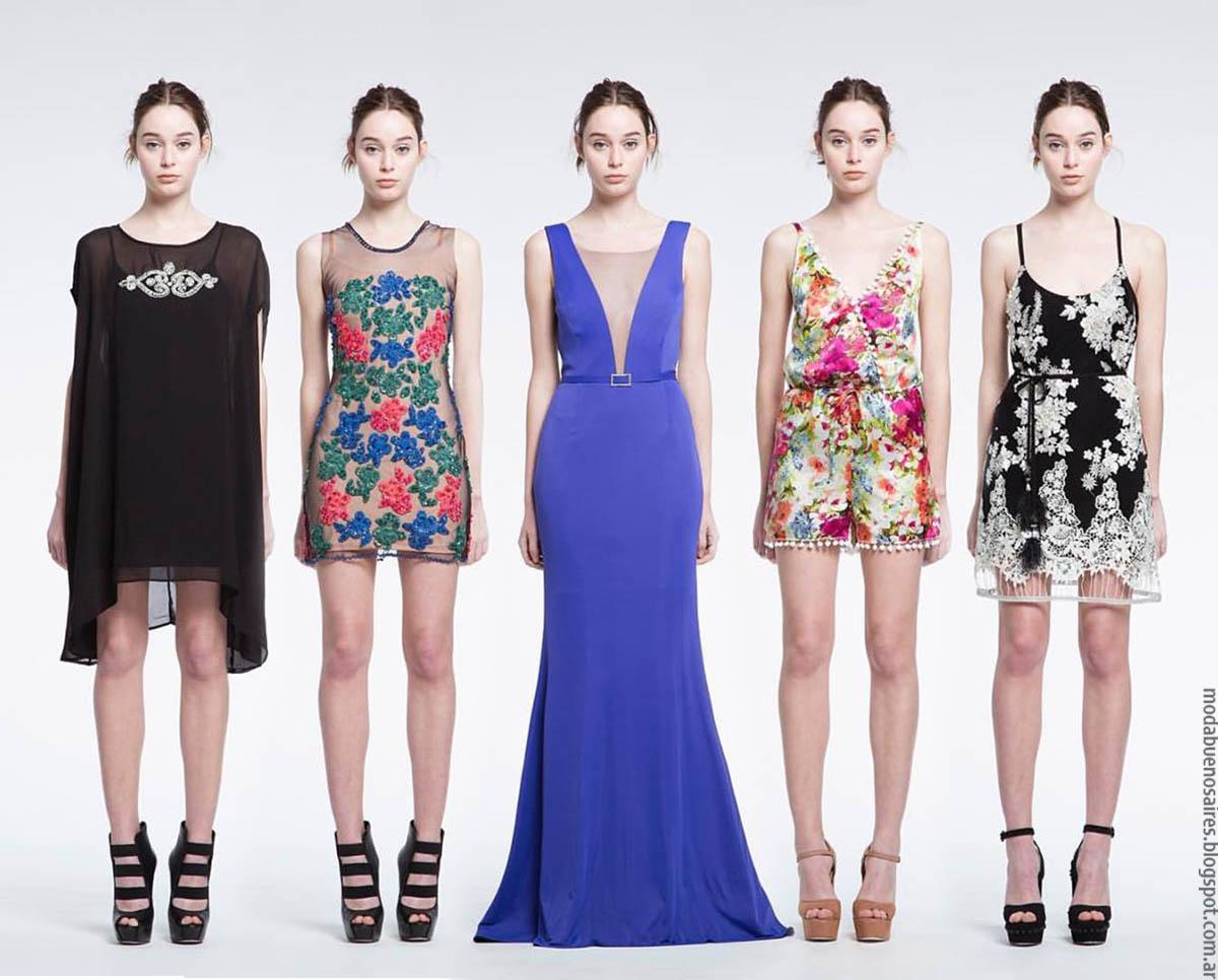 Moda 2017 Vestidos de fiesta 2017 colección Natalia Antolin
