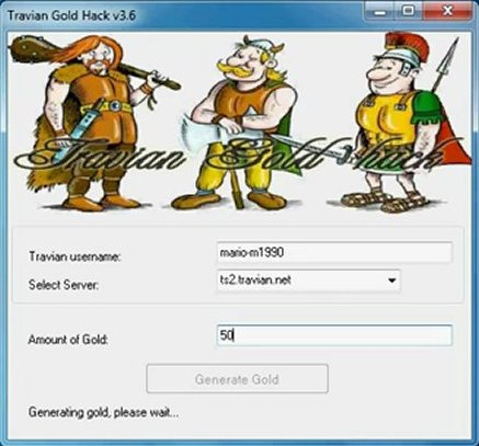 Download Games Hacks For PC: Travian Gold Adder Hack