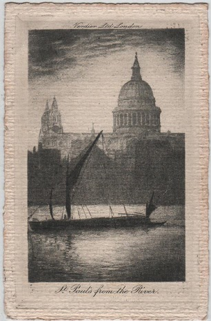 Vintage postcard of St. Paul's Cathedral, London