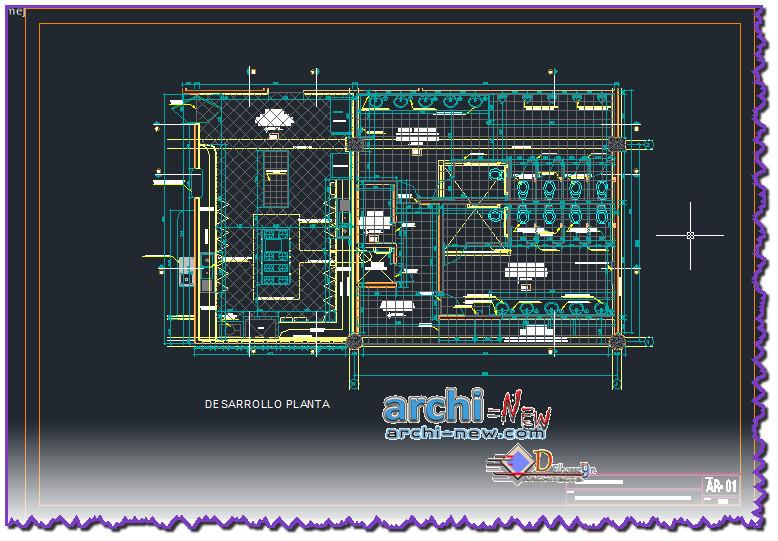 En Download Autocad Dwg 3d File To Autocad Development And Public Restroom Kitchen Category