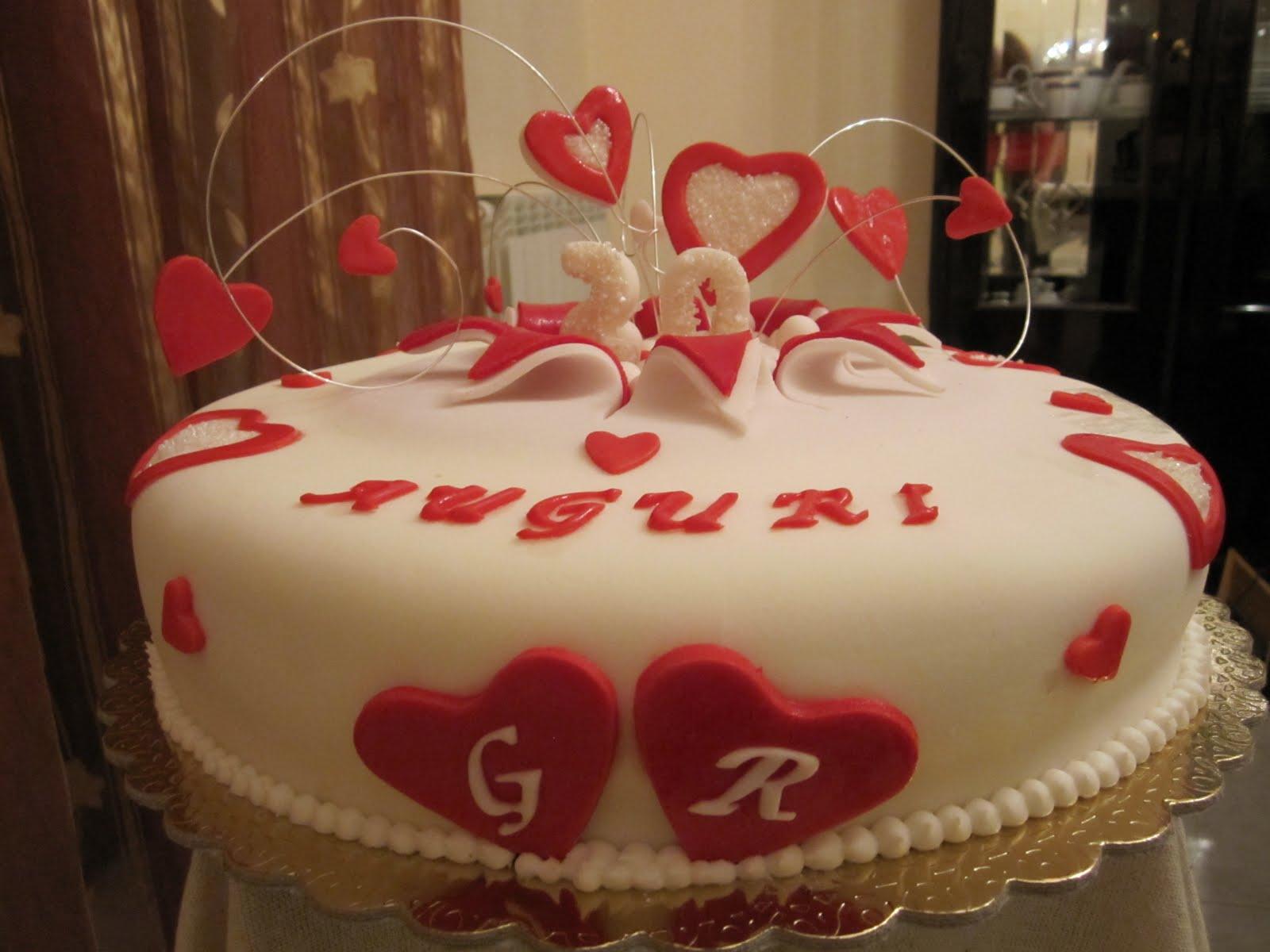 Popolare Dolce Candy : Torta anniversario di matrimonio YD19