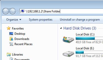 cara sharing folder windows 7