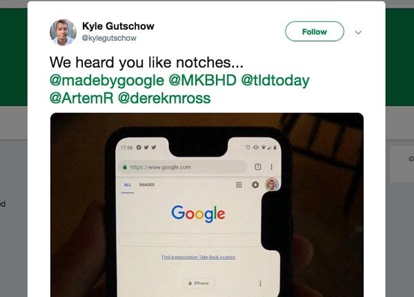 هاتف Google Pixel 3 XL يحصل على نوتش اضافي