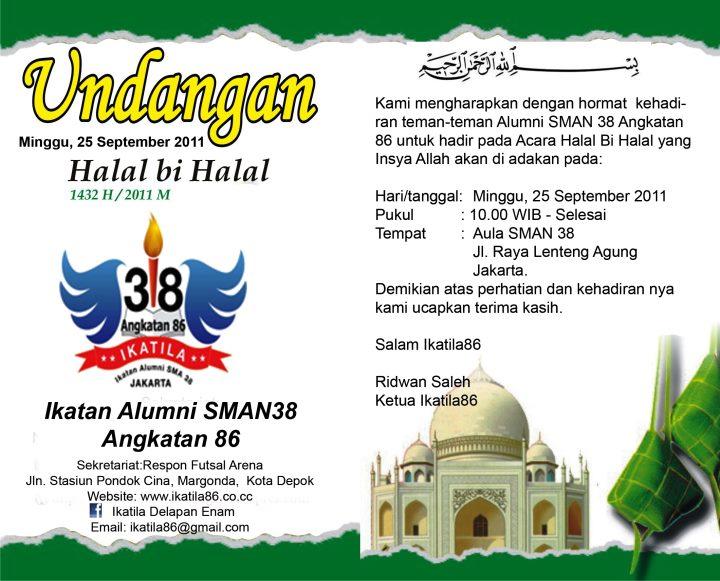 Ikatila86 Sma 38 Undangan Halal Bi Halal Ikatila86