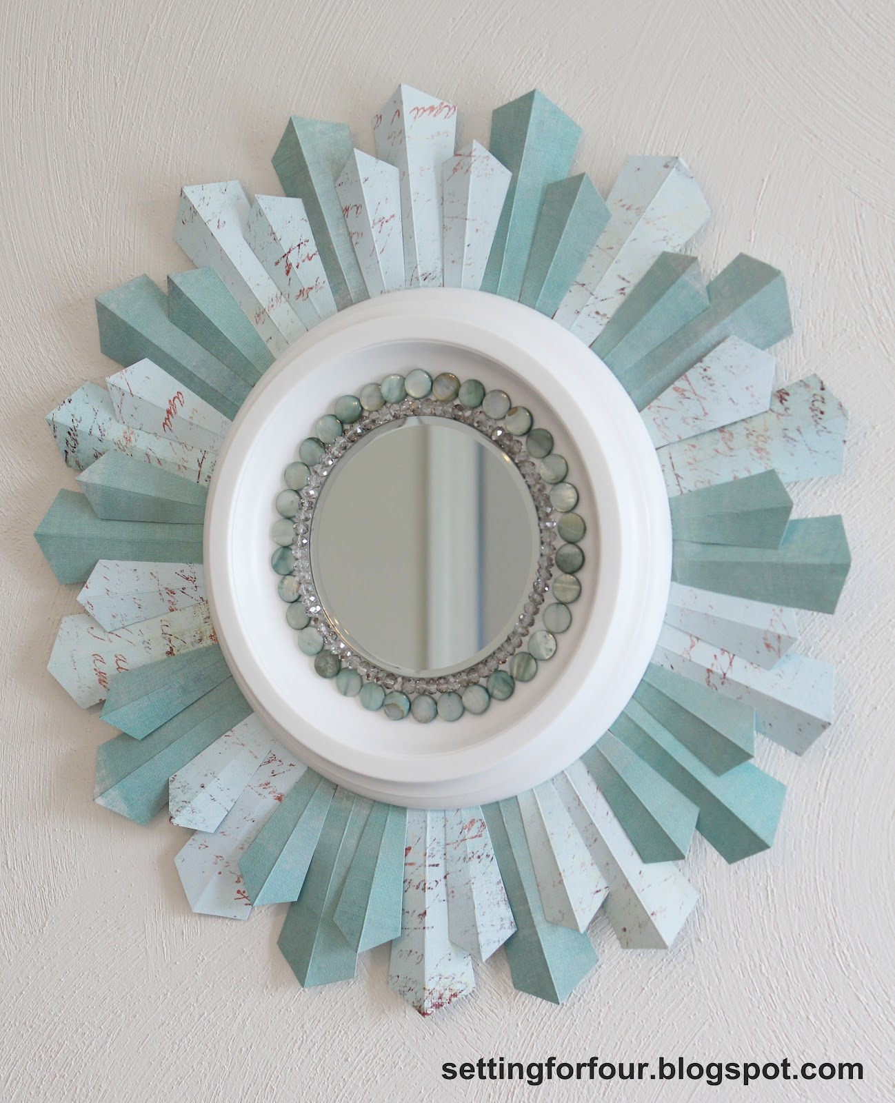 DIY Beaded Sunburst Mirror | pakky105